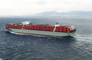 "Millau Bridge, Container Ship – 150,709 DWT- Photo courtesy of ""K"" Line"