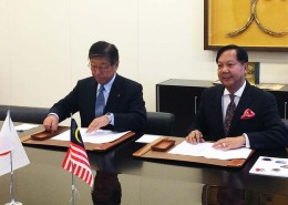 Signing of Joint Venture with K Line of Japan – Tan Sri Halim Mohammad, Executive Chairman of Halim Mazmin Group & Mr. Jiro