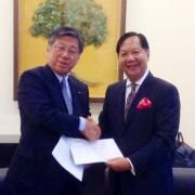 "Chairman of ""K"" Line, Tokyo - Mr. Jiro Asakura & Tan Sri Halim Mohammad, Executive Chairman of Halim Mazmin Group"