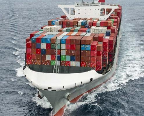 "Millau Bridge, Container Ship – 150,709 DWT- Photo courtesy of ""K"" Line"